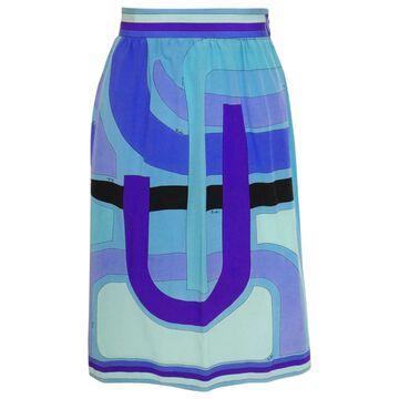 Emilio Pucci Blue Silk Skirts