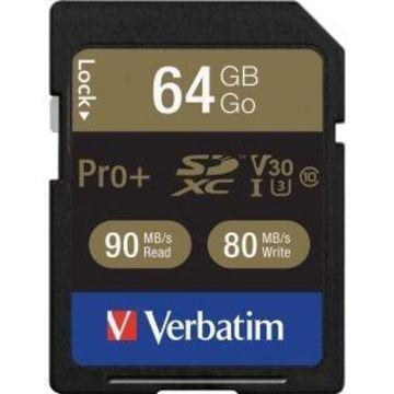 Verbatim 49197 Proplus 600x Sdxc Card (64gb)