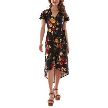 Bcx Juniors' Surplice High-Low Dress