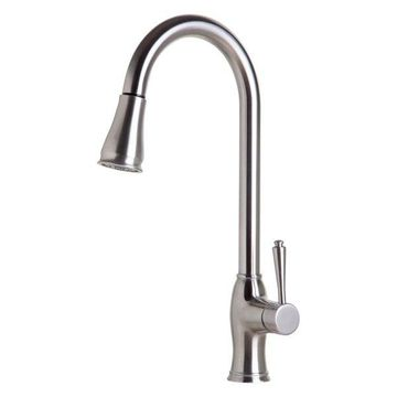 ALFI brand AB2043-BSS Pull Down Kitchen Faucet In Brushed Stainless Steel