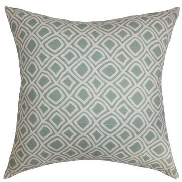Cacia Geometric Floor Pillow Surf
