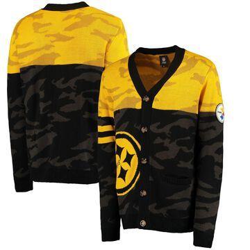 Pittsburgh Steelers Klew Camouflage Cardigan - Black