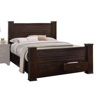 Acme Furniture Panang Queen Storage Bed, Mahogany