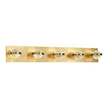 Eurofase Ryder LED Bath Bar - Color: Gold - Size: 5 light - 37071-028