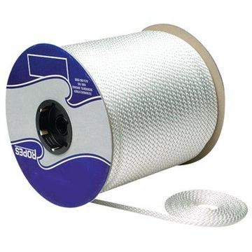 SeaChoice White Solid Braid Nylon Rope Spool
