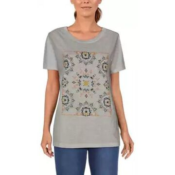 Natural Reflections Bandana Short-Sleeve Crew Tee for Ladies