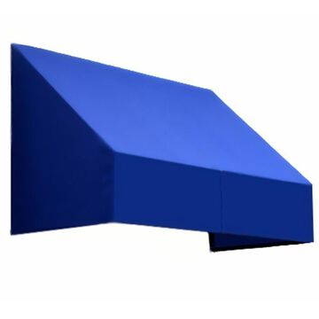 Awntech New Yorker 40.5-in Wide x 36-in Projection Bright Blue Solid Fixed Window/Door Awning | CN33-L-3BB