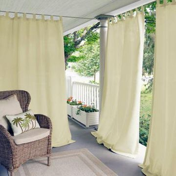 Elrene Matine 108-Inch Indoor/Outdoor Tab Top Window Curtain Panel in Ivory