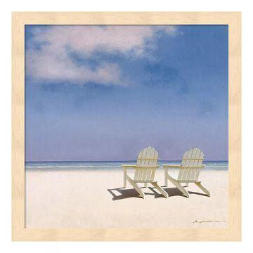 "Metaverse Art Beach Chairs Framed Wall Art, Multicolor, 12""X12"""