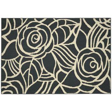 Garland Rug Rhapsody Floral Rug, Grey, 5X7 Ft