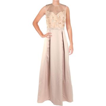 Alex Evenings Womens Formal Dress Sateen Illusion