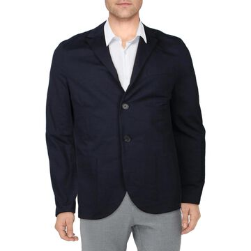 Harris Wharf London Mens Two-Button Blazer Office Suit Separate - Navy Blue