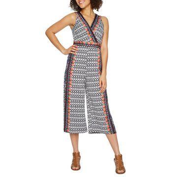 Danny & Nicole Sleeveless Print Jumpsuit