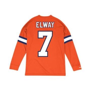Mitchell & Ness Men's John Elway Denver Broncos Retro Player Name & Numer Longsleeve T-Shirt