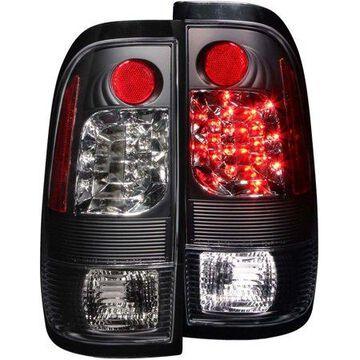 ANZO USA 311027 97-03 F150 FLEETSIDE/99-06 SUPER DUTY LED TAIL LIGHTS LED BLACK