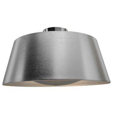 Access Lighting SoHo 18.75-in Brushed Silver LED Flush Mount Light ENERGY STAR | 23764LEDDLP-BSL