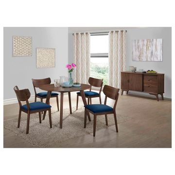 Picket House Furnishings Rosie 6PC Dining Set w/ Navy Blue Chairs