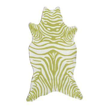 The Rug Market Resort 8 x 10 Green Irregular Animal Print Lodge Area Rug   25256E