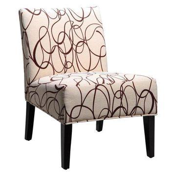 Homelegance Lifestyle Armless Lounge Chair - Modern Swirl
