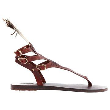 Ancient Greek Sandals Brown Leather Sandals