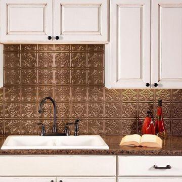 Fasade Traditional Style #1 Argent Bronze 18-square Foot Backsplash Kit