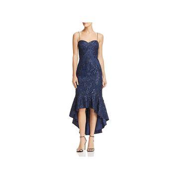 Aidan Mattox Womens Midi Dress Mermaid Sleeveless