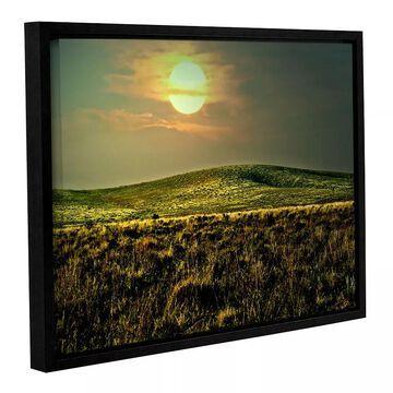 ArtWall Corner Pocket Framed Wall Art, Green, 36X48