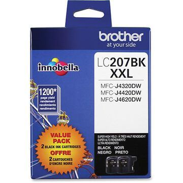 LC2072PKS Innobella Super High-Yield Ink, 1200 Page-Yield, Black, 2/PK