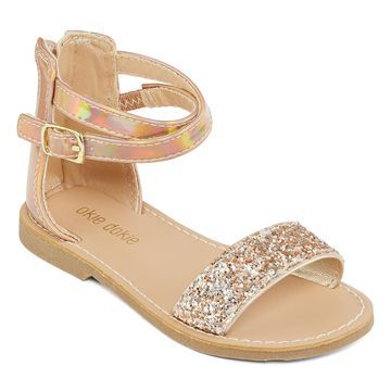 Okie Dokie Toddler Girls Lil Kylie Ankle Strap Flat Sandals