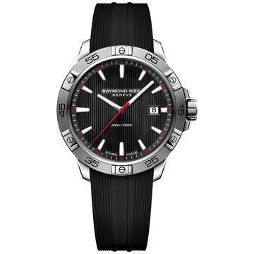 Men's Swiss Tango Black Rubber Strap Watch 41mm 8160-SR2-20001, Created for Macy's