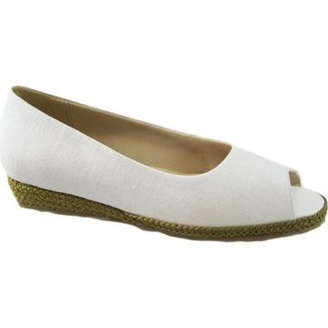 Beacon Shoes Women's Tucson Espadrille White Textile