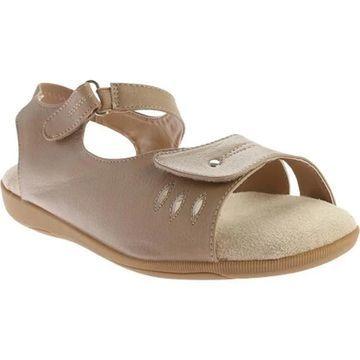 Beacon Shoes Women's Kerry Sandal Tan Leather