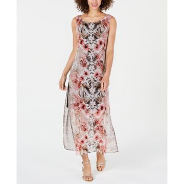 Floral & Animal-Print Maxi Dress
