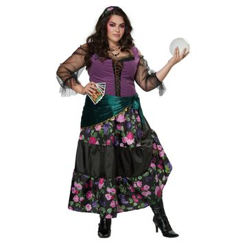 BuySeasons Women's Plus Mystical Fortune Teller Costume