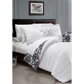 Chic Home Lea 10-Piece Comforter Set- White - -