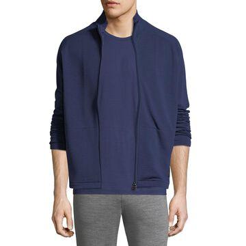Full-Zip Stand-Collar Sweater
