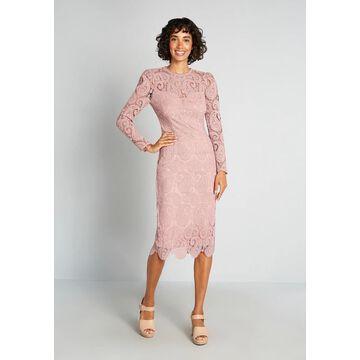 Little Mistress At First Blush Midi Dress, Size 12