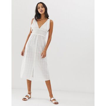 Fashion Union River beach dress in white