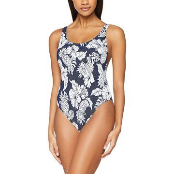 Seafolly Blue Women's Size 8 Floral-Print One-Piece Swimsuit