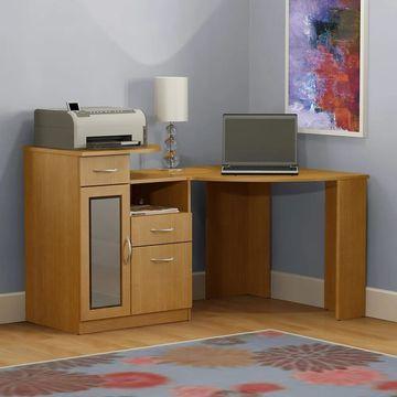 Bush Furniture Vantage Corner Desk in Maple