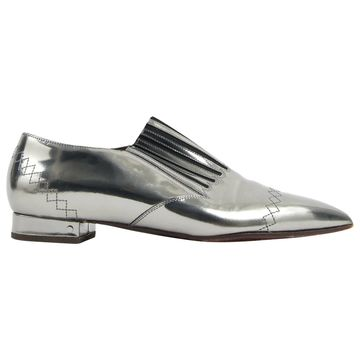 Laurence Dacade Silver Leather Flats