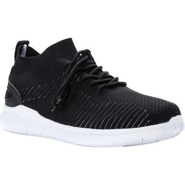 Propet Men's Viator Sneaker Black Knit Mesh
