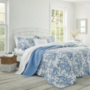Laura Ashley Twin Bedford Quilt Set Bedding