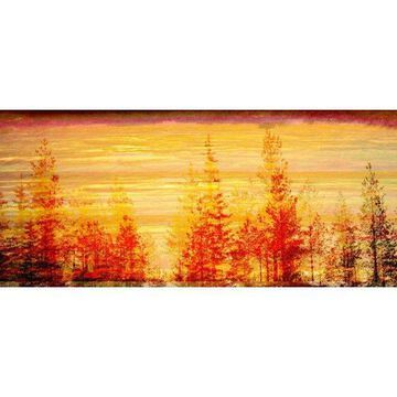 Marmont Hill Fall Trees in the Sunset Print on Canvas
