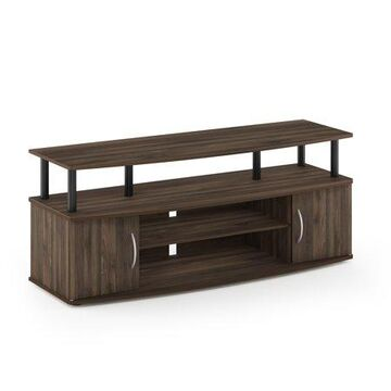 Furinno JAYA Large Entertainment Center Hold up to 55-IN TV, Columbia Walnut/Black