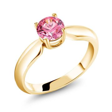 0.84 Ct Fancy 925 Yellow Gold Plated Silver Ring Made With Swarovski Zirconia