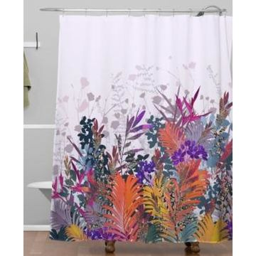 Deny Designs Iveta Abolina Anabelle Lilac Shower Curtain Bedding