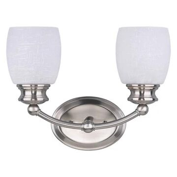 Canarm Palms 2-Light Vanity, Brushed Pewter