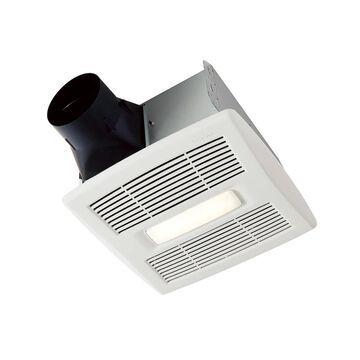 Broan InVent Series 1.5-Sone 80-CFM White Lighted Bathroom Fan ENERGY STAR   AE80BL