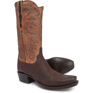 Lucchese Ferris 7 Toe Cowboy Boots - Shark Skin, Snip Toe, 13